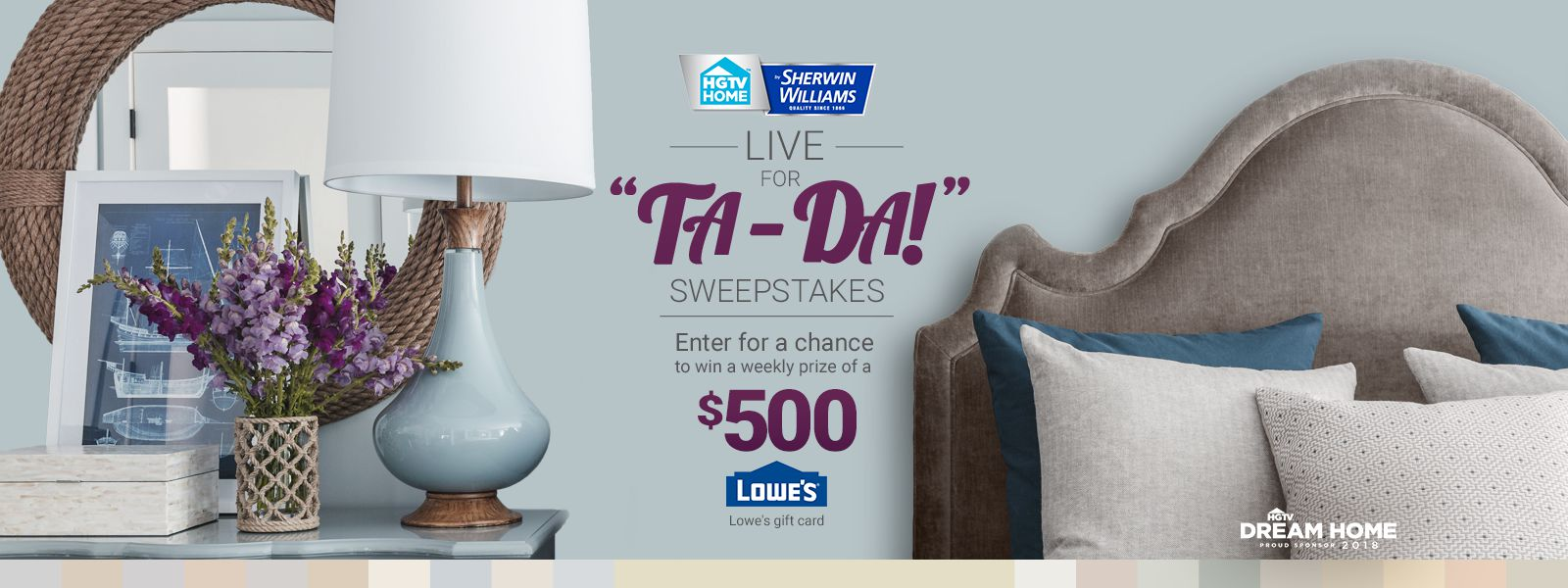 Sherwin Williams Live for Ta da Sweepstakes Enter | Sponsored Sweeps ...